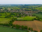 Aerial view from Dovers Hill (NT) towards Chipping Campden.