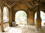 Chipping Campdens old market hall is a 30 second walk from Matilda Cottage!