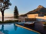 Views of the Beach, Ocean, Lions Head, Table Mountain & The Twelve Apostles Mountain