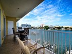 Spacious balcony perfect for entertaining.