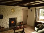 Sitting Room- with its cosy multi-fuel stove and views of the dale