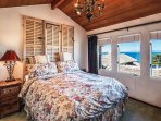 Master Bedroom with Amazing Ocean Views and a King Bed.