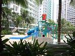 kiddie pool with slides