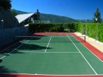 Full size tennis court on-site