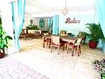 Outdoor/Indoor Dining - communal