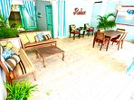 Outdoor/Indoor Lounging and Dining - communal