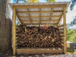 Unlimited dried/stacked firewood just a few yards from the cabin, provided with every booking (firewood fee is...