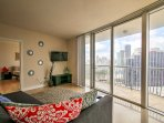 The condo boasts over 1,000 square feet of sleek and sophisticated living space to comfortably accommodate 6 lucky...