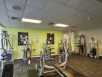 Take advantage of the on-site fitness facility when you need to blow off some steam.