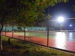 Floodlit tennis