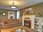 Cozy up around the gorgeous gas fireplace on chilly evenings.