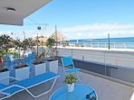 Furnished balcony with sea view
