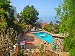 Loft En la Montaña con piscina y vistas a la Gomera en Tenerife Sur    Vistas Piscina