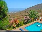 Loft En la Montaña con piscina y vistas a la Gomera en Tenerife Sur    Piscina Vistas