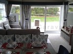 NEW luxury Swift Antibes caravan with front deck at Haven Perran Sands, Perranporth, Cornwall.