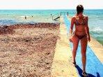 Faros Blue Flag Beach , 350x, Swim jetty