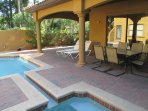 Private Courtyard with Pool/Jacuzzi