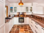 See the beautiful granite worktops and reclaimed marine light