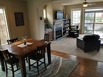 Great open floor plan, the dining area flows right into the living room.
