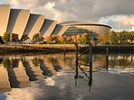 The Event Campus. The Hydro and Armadilo are a 25 minute walk from the apartment on the Clyde.