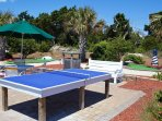 table tennis, miniature golf, basketball courts, game room, etc...