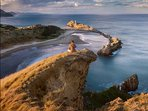 View from Castle Rock, a major Wairarapa icon. A great day trip to Castlepoint lighthouse and beach.