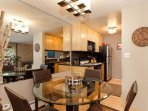 Enjoy breakfast at the dining table before heading to your favorite ski mountain. Kitchen is equipped with oven...