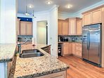 The chef in your group can easily practice their craft in this fully equipped kitchen.