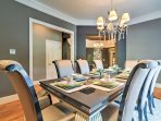 Host family-style dinners in this elegant dining room.