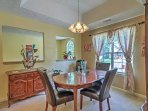 This dining area is perfect for your more formal occasions.