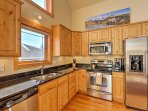Prepare your favorite flavors from home in this fully equipped kitchen.