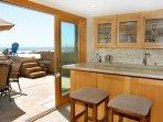 Beach level bar and deck