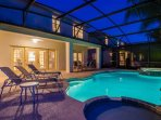 Enjoy the evening with the lighted pool and Jacuzzi as well as a splash pool for the little ones.