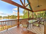 Escape to 'LazyBear Lodge,' an elegant 7-bedroom, 3.5-bath vacation rental home on Lake Sinclair in Sparta, Georgia.