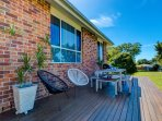 Your own private deck for bbqs and views
