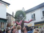 The Bolster arrives at St Agnes carnival, 10 minute drive