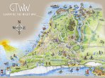 Probably everything you want to do and need all within a 3 mile stretch.  The  wonderful West Wight.