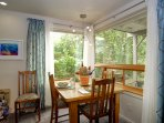 Dining with garden views