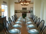 Dining Rooms are large enough for 16 to 22 people and well equipped