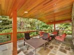 Expansive outside deck space.