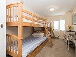 First floor bunk bed room sleeps four