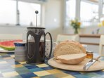 Enjoy a leisurely breakfast whilst on holiday