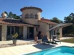 Villa voor 10 personen met privé zwembad, petanquebaan en bos