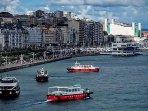 Bahía Santander con las pedreñeras cruzándola