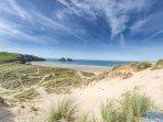 Crantock beach sand dunes - Nigel Maitland photography