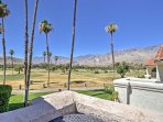Enjoy beautiful views of the San Jacinto mountains from the private balcony.