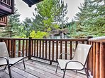 Enjoy the crisp mountain air from the private deck.