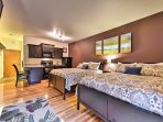 The condo's interior is well-appointed with accommodations for 4 guests.