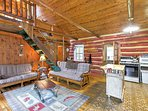 Boasting over 1,000 square feet of living space, this is the ideal rental cabin for groups of 8 travelers.