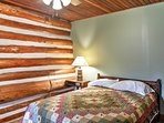 Two guests will sleep comfortably in the full-sized bed in the bedroom.